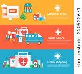 set of banners flat medical... | Shutterstock .eps vector #250922671