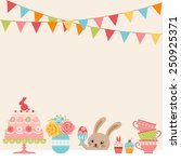 easter party background with... | Shutterstock .eps vector #250925371