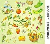 set of vegetables   Shutterstock . vector #25093045