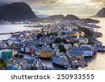 cityscape of alesund  norway | Shutterstock . vector #250933555