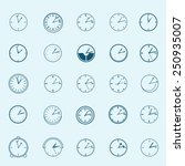 clock icons set   isolated on...