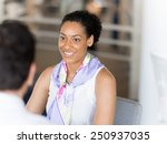 happy and confident young woman ... | Shutterstock . vector #250937035