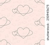valentine day concept. seamless ... | Shutterstock .eps vector #250945675