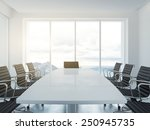white empty conference room. 3d ... | Shutterstock . vector #250945735