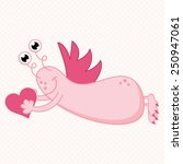 cute vector valentine's day... | Shutterstock .eps vector #250947061