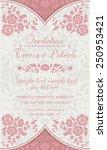 antique baroque invitation... | Shutterstock .eps vector #250953421