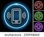 smartphoneon  color round... | Shutterstock .eps vector #250958065