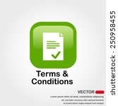 terms and conditions icon with...