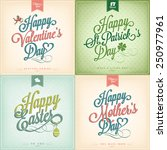 typographical spring holiday... | Shutterstock .eps vector #250977961