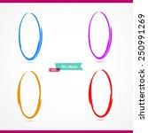 4 ovals. ellipse. vector... | Shutterstock .eps vector #250991269