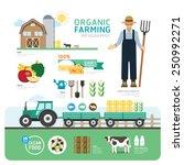 organic clean foods good health ... | Shutterstock .eps vector #250992271