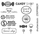 collection of vintage logo and... | Shutterstock .eps vector #250998829