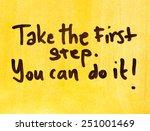 motivational message you can do ... | Shutterstock . vector #251001469