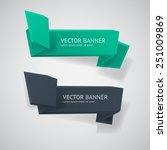 vector infographic origami... | Shutterstock .eps vector #251009869
