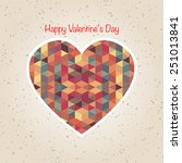 abstract valentine's day retro... | Shutterstock .eps vector #251013841