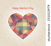 abstract valentine's day retro... | Shutterstock .eps vector #251013979