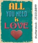 valentine's day poster. retro... | Shutterstock .eps vector #251018899