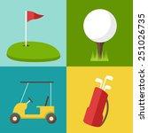 vector golf icons set. | Shutterstock .eps vector #251026735