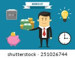 vector businessman with set of... | Shutterstock .eps vector #251026744