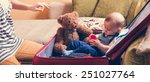 Adorable Baby Boy In Suitcase...