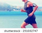 cardio runner running listening ... | Shutterstock . vector #251032747