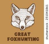 hand drawn vector fox head....   Shutterstock .eps vector #251041861