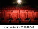 empty comfortable red seats...   Shutterstock . vector #251048641
