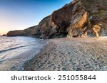 The Beach And Cliffs At Polpeor ...