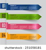 colorful modern text box... | Shutterstock .eps vector #251058181