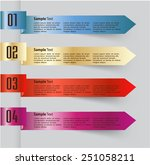 colorful modern text box... | Shutterstock .eps vector #251058211