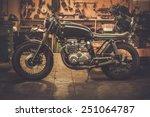 vintage style cafe racer... | Shutterstock . vector #251064787