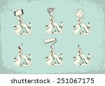 set of illustrations with hands | Shutterstock . vector #251067175