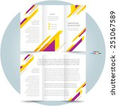 brochure design template tri... | Shutterstock .eps vector #251067589