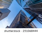 office buildings stretch up to... | Shutterstock . vector #251068444