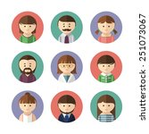 set of avatar icons with male... | Shutterstock .eps vector #251073067