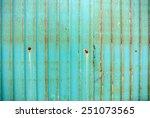 rusted galvanized iron plate | Shutterstock . vector #251073565
