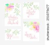 invitation card for wedding... | Shutterstock .eps vector #251075677