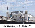 brighton beach  great britain   ... | Shutterstock . vector #251084359