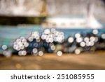 steel tube off focus  | Shutterstock . vector #251085955