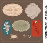 design elements in vintage... | Shutterstock .eps vector #251088007