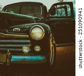 old retro or vintage car or... | Shutterstock . vector #251090941