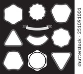 collection white labels on the... | Shutterstock .eps vector #251091001