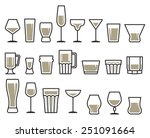 drink glass icon set