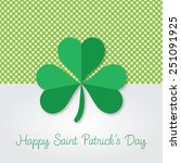 happy saint patrick's day... | Shutterstock .eps vector #251091925
