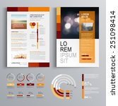 red brochure template design... | Shutterstock .eps vector #251098414