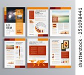 red brochure template design... | Shutterstock .eps vector #251098441