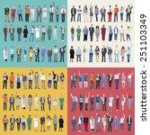 jobs people diversity work... | Shutterstock . vector #251103349