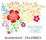 large vector watercolor red...