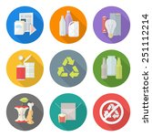 vector flat style various waste ... | Shutterstock .eps vector #251112214