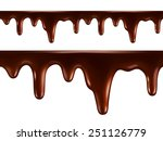 drops of melted chocolate.... | Shutterstock .eps vector #251126779